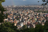 View at Katmandu city from hill