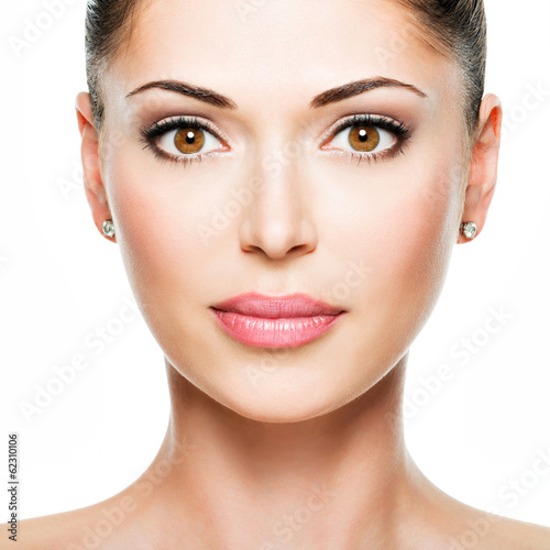 Young adult woman with beautiful face