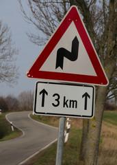 Gefährliche Kurvenstrecke