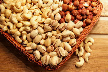 Several kinds of nuts