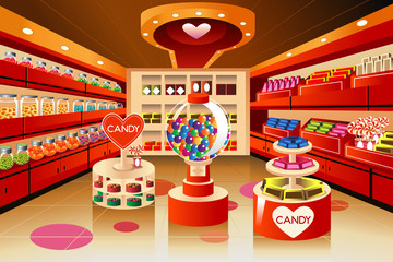 Grocery store: candy section