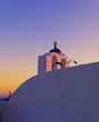 SUnrise in Santorini.Greece.