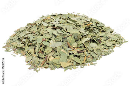 crushed eucalyptus leaves