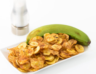 Cuban Cuisine Traditional Green Banana Chips