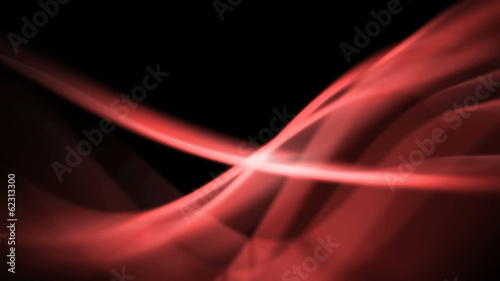 modern background of red abstract light waves - seamless