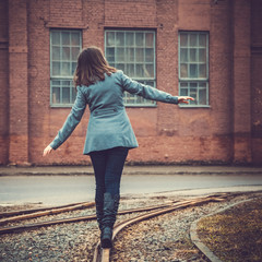 girl on the railway