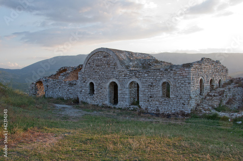 Ruins of castle walls, Berat, Albania