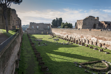 Hippodrome of Domitian on the Palatine Hill, Rome, Italy