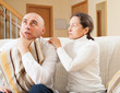 couple having quarrel at home