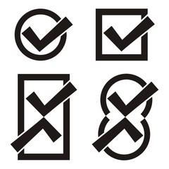 Black tick icons