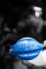 car windscreen washer water tank cap, detail