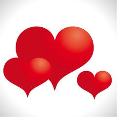 Drei rote Herzen - Hintergrund