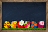 easter egg blackboard
