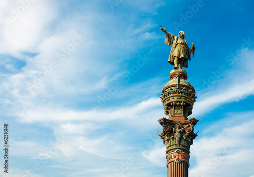 Monument of Christopher Columbus pointing towards America, Spain