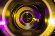 Leinwanddruck Bild - Video camera lens