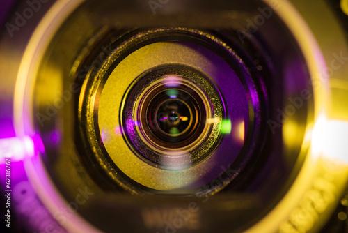 Leinwanddruck Bild Video camera lens