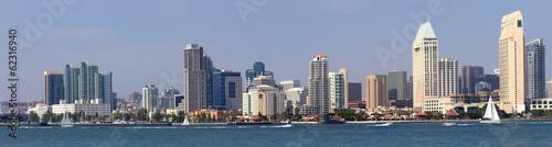 Fotobehang Industrial geb. San Diego California panorama waterfront skyline.