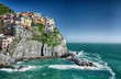 Manarola, Cinque Terre. Wonderful Coastal Colors in Spring Seaso
