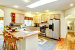 Amazing bright kitchen with maple storage combination