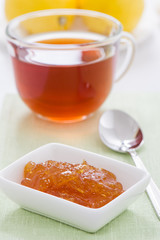lemon marmalade and a cup of tea