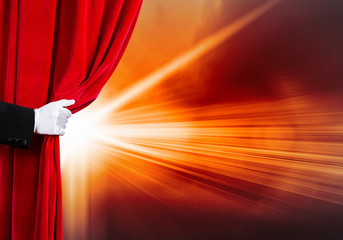 Opened curtain