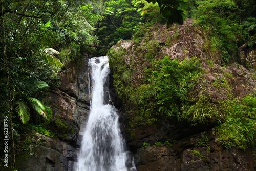 Papiers peints Caraibes La Mina Falls Puerto Rico