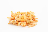 dried shrimp on white background