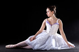 Sitting ballet dancer
