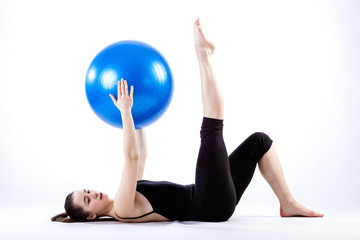 Exercising with ball
