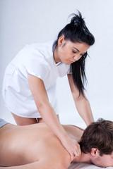 Nude back massage