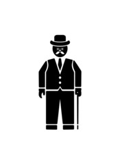 Vector English gentleman