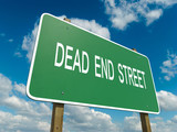 Road sign to dead end street