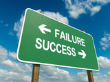 Road sign to failure or success
