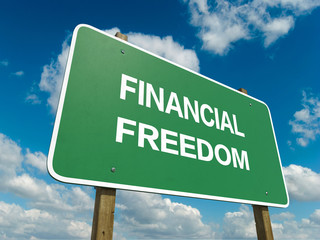 Road sign to financial freedom