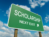 Road sign to scholarship