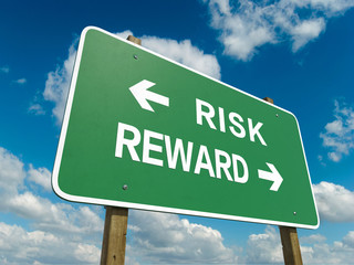 Road sign to risk reward