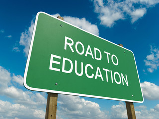Road sign to education