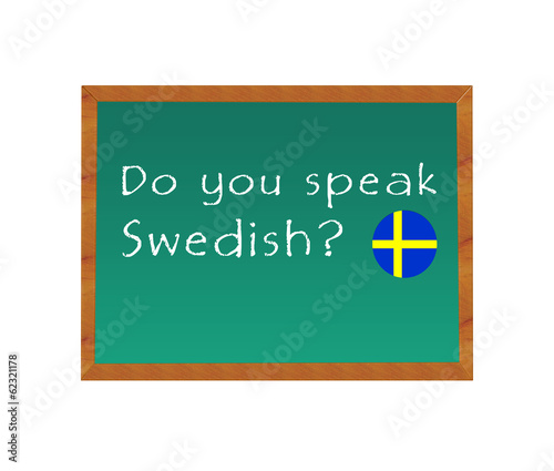 Blackboard with the text Do you speak Swedish?