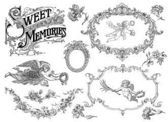 Sweet memories set background