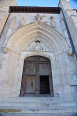 Entrada y arco gotico iglesia san nicolas de bari en burgos