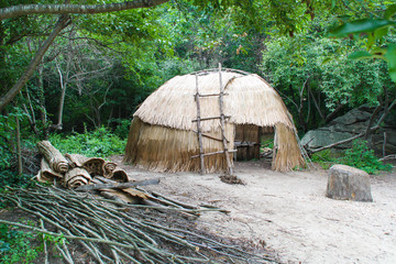 Native American wigwam hut