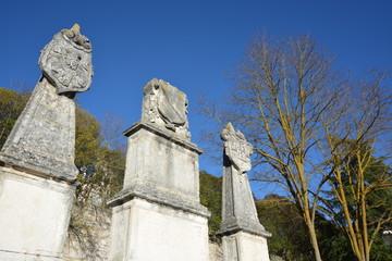 Columnas de piedra homenaje al el Cid Campeador, Burgos