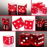 Red dices collage