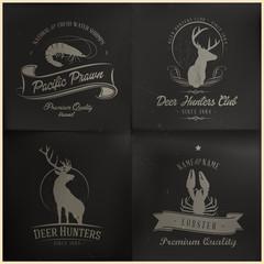 Sea and wild animal badges