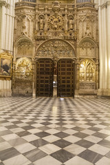 Majestic interior of the Cathedral Toledo, Spain. Declared World