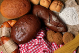 Bakery products close up