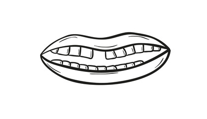 sketch of the mouth