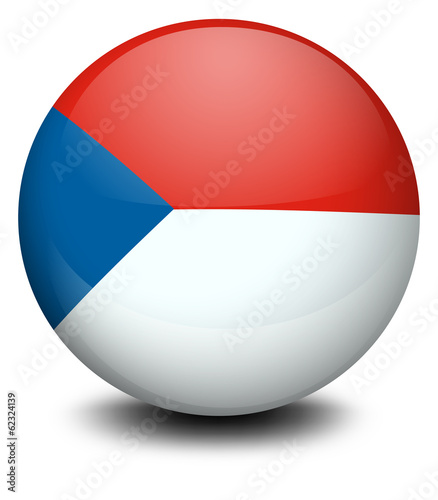 A ball with the flag of Czech Republic