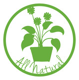 A green all natural label