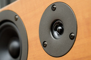 Closeup of loudspeaker